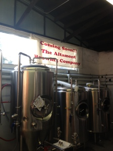 Fermenters and bright tanks at Altamont