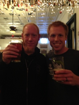 Myself and Luke from Wicked Weed Brewing