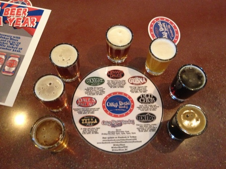 A flight at Oskar Blues in Brevard (before)