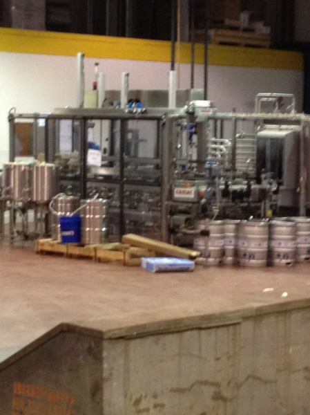 Kegging area