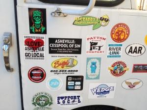 Stickers on El Kimchi's truck