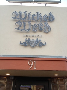 Wicked Weed is located right next to the Orange Peal. Perfect place for dinner and drinks before a show.