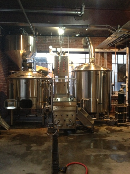 Wicked Weed's 15 barrel brewing system
