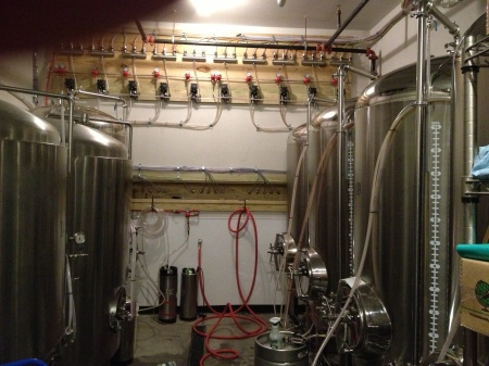 Cold room at Wicked Weed