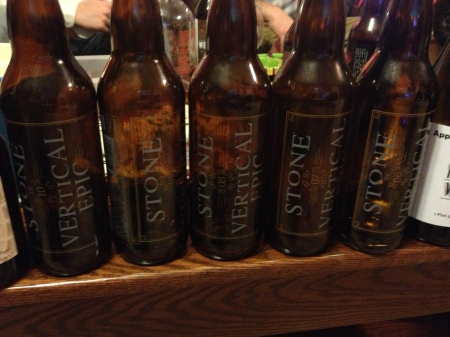 Stone Vertical tasting. Big Shout out to Animal aka Jason Anderson for sharing these with us.