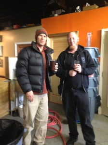 Gordon Kear, Brewer at Altamont and myself.