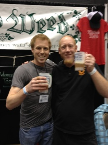 Luke from Wicked Weed and myself