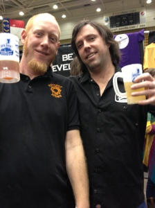 Myself and Jason Caughman, owner of Pisgah Brewing