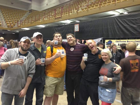 I won the prize for making the creepiest face possible in this Knox Beer Crew Picture