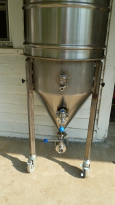 One of Bubba's Conical fermentors