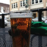 Schlafly's AIPA on the front patio of Suttree's
