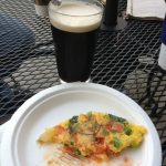 Breakfast of Champions: Murphy's Irish Stout and a kick ass omelet.