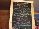 Some of the tasty beers on tap at Natahala