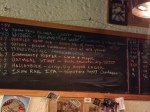 Tap list at Wedge on 5/4/2103