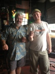 Greenman's Head brewer and local beer legend, john Stuart and myself.