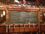 Tap list downstairs at Barley's
