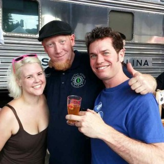 Katie, myself and my buddy David Chisholm. My beer was his 500th Untappd Check in. So honored!