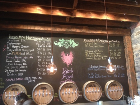 Tap list at Wicked Weed Downstairs on 7/21/13