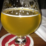 My first beer of the trip: Fullsteam's Summer Basil Saison.