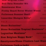 Beer list at closed For Business, I didn't even know that Ruination Tropical Heat even existed.
