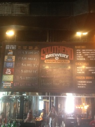 Tap list at Southend Brewery, too bad the beer wasn't very good.