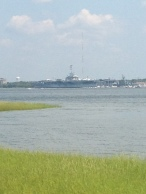 WWII Aircraft carrier at Patriot's Point