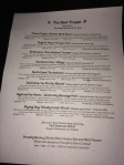 Draft list at The Beer Trappe