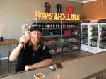 Me enjoying the first official beer at Hops and Hollers
