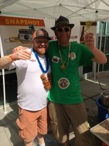 Ginger powers Activate. Me with my Bearden Beer Market Running buddy, D.J.
